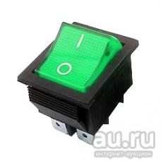 Выключатель зеленый одноклавишный 16А, 250В, для водонагревателей